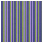 [ Thumbnail: Purple, Green, and Midnight Blue Lines Fabric ]