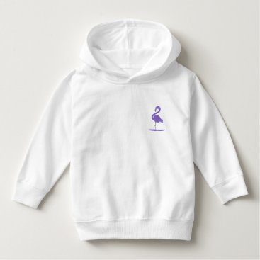 Beach Themed Purple, Green, and Teal Flamingos with Flair Hoodie