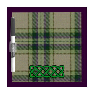 Purple, Green, and White Tartan with Green Celtic Dry-Erase Boards