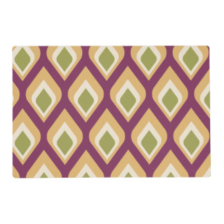 Purple, green and yellow droplets placemat