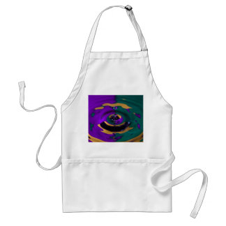 Purple Green and Yellow Water Drop Adult Apron