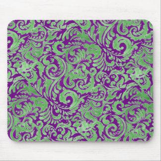 Purple/Green Batik Inspired Mousepad