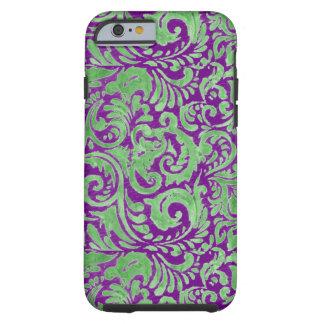 Purple/Green Batik Inspired Tough iPhone 6 Case