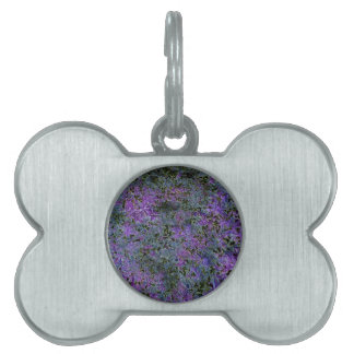 Purple, Green, Blue abstract ground background Pet Tag