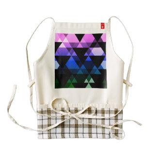 Purple, Green & Blue Triangle Design Zazzle HEART Apron