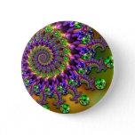 Purple & Green Bokeh Fractal Pattern Pin