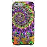 Purple & Green Bokeh Fractal Pattern iPhone 6 Case