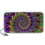 Purple & Green Bokeh Fractal Pattern Travel Speaker