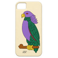 Purple Green Cartoon Parrot Iphone Se/5/5s Case at Zazzle