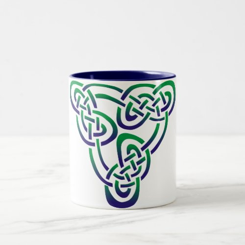 Purple Green Celtic Trinity Knot