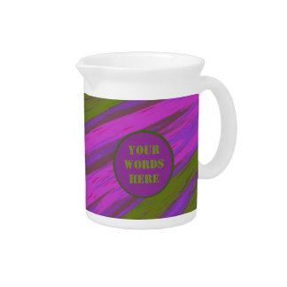Purple Green Color Swish Abstract Drink Pitcher