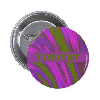 Purple Green Color Swish Pinback Button