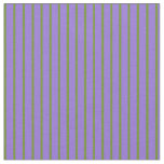[ Thumbnail: Purple & Green Colored Pattern of Stripes Fabric ]