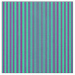 [ Thumbnail: Purple & Green Colored Stripes/Lines Pattern Fabric ]