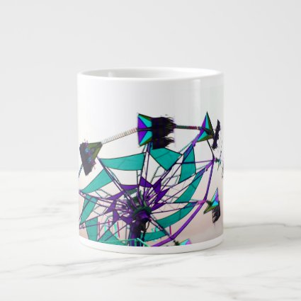 purple green fair ride flying midway jumbo mug