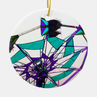 purple green fair ride flying midway christmas tree ornament