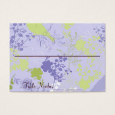 Purple & Green Floral Wedding Table Number Cards at Zazzle