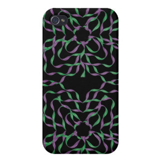 Purple Green Flower 3D Ribbons iPhone 4 Speck Case iPhone 4 Case