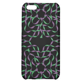 Purple Green Flower 3D Ribbons iPhone 4 Speck Case iPhone 5C Cover
