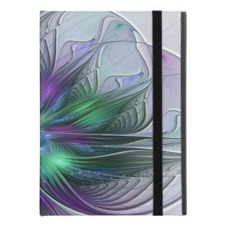 "Purple Green Flower Modern Abstract Art Fractal iPad Pro 9.7"" Case"