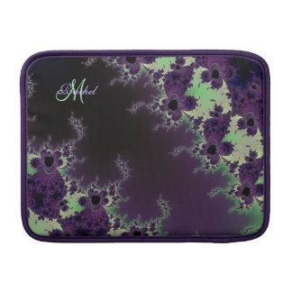 Purple Green Fractal Monogram Macbook Air Sleeve