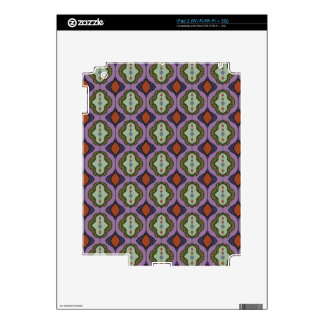 Purple Green Gothic Ogee Quatrefoil Decal For The iPad 2