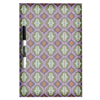 Purple Green Gothic Ogee Quatrefoil Dry-Erase Board