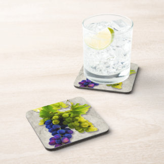 Purple & Green Grapes Beverage Coaster