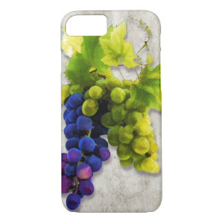 Purple & Green Grapes iPhone 7 Case