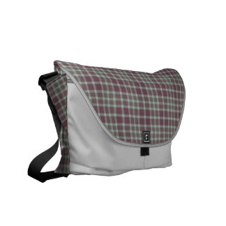 Purple Green Gray Tartan Plaid Courier Bag