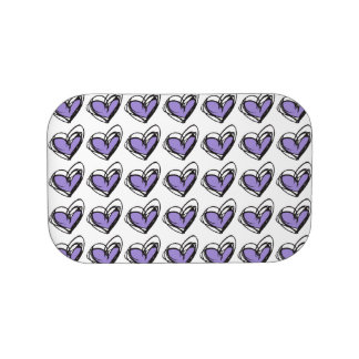 Purple/Green Heart Lunchbox Faceplates