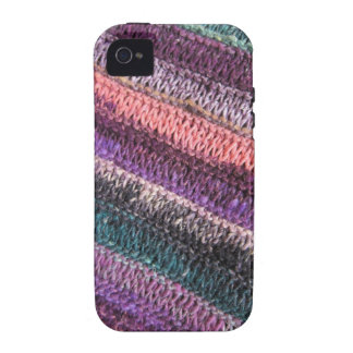 Purple Green Knit iPhone 4/4S Cases