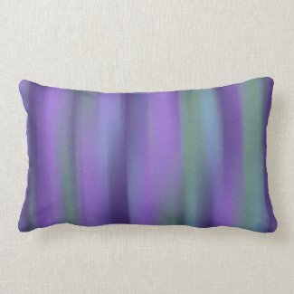 Purple Green Lavender Stripe Lumbar Pillow