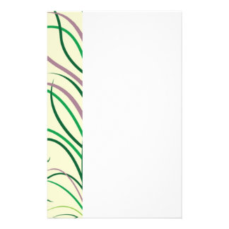Purple Green Leaves Stationery