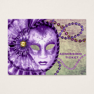Purple Green Masquerade Party Admission Tickets