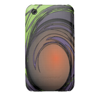 Purple Green Moon iPhone 3 Case-Mate Cases