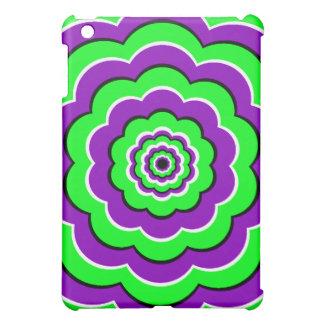 Purple - Green Optical Fun Cover For The iPad Mini