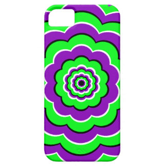 Purple - Green Optical Fun iPhone SE/5/5s Case