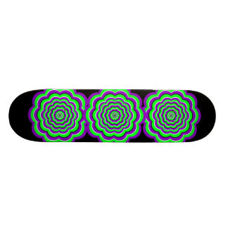 Purple - Green Optical Fun Skate Board Decks