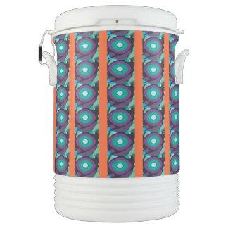 Purple Green Orange Igloo Beverage Cooler
