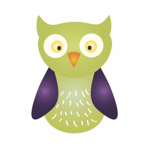 Purple Green Owl Cut Out Zazzle