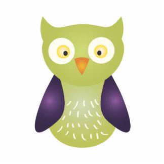 Purple / Green Owl Cutout