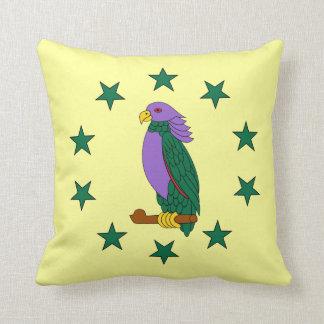 Purple Green Parrot (S) Pillows