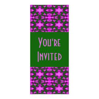 purple green pattern card
