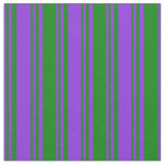 [ Thumbnail: Purple & Green Pattern Fabric ]