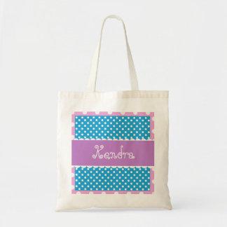 Purple Green Polka Dots Bride or Bridesmaid V30 Tote Bag