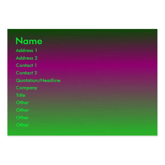 Purple - Green Profile Card Large Business Cards (Pack Of 100)