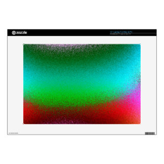 "Purple Green Red Abstract 15"" Laptop Skins"