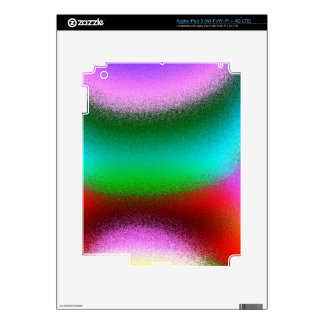 Purple Green Red Abstract iPad 3 Decal