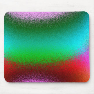 Purple Green Red Abstract Mouse Pad